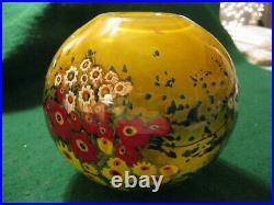 2011 Art Glass Hand Blown SIGNED VaseShawn E. Messanger Landscape Series