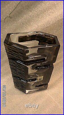 2936M Vtg Mid Century CESAR BALDACCINI 9 Vase Daum Crystal CUBIIST BRUTALIST