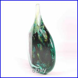 A good Maltese Mdina Cut Ice Lollipop Vase signed Michael Harris 1968 72