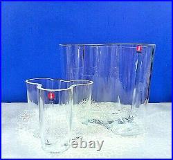 Alvar Aalto Vase By Iittala Art Blown Glass Vases Set
