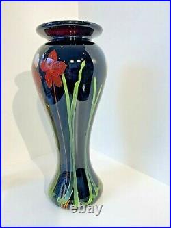 Amazing Massive Signed Studio Art Glass Tall Vase Mayauel Ward