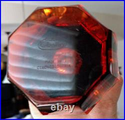 Amber Moser Faceted Thick 9by 5 Flawless Heavy Amazing Rare Signed Vase