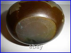 Antique Original Galle French Cameo Glass Banjo Vase Leaf & Berry Design Signed