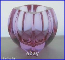Astoundingly AWESOME Signed MOSER Glass VASE Colors CHANGE Alexandrite Neodymium