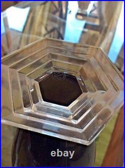 Authentic Baccarat Black ORSAY Vase No box EUC No Chips