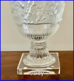 Authentic Lalique heavy large signed versailles vase