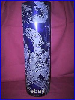 Authentic Masterpiece by Patrick Wadley Etched Vase