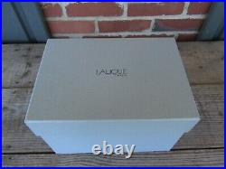 BEAUTIFUL LALIQUE HEAVY CRYSTAL FLORERO SANDRIFT VASE in Original Box SIGNED