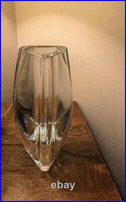 Baccarat Crystal Bouton-d'or 8 Tall Triangle Vase Signed France
