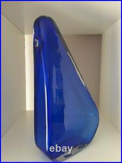 Barbini Napoleone Martinuzzi Important Rare Murano Glass Vase Signed