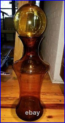 Blenko #4603-ha Unusual Floor Vase made only 1 year! Extremely Rare Ginger Color