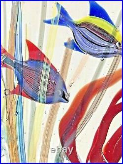 Captivating and Magnificent Studio Glass Murano Underwater Aquarium Signed