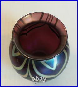Charles LOTTON Art Glass Vase, Signed & Dated 1973