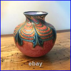 DANIEL LOTTON Art Glass Vase Signed 1994- 5 Tall