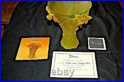 Daum Nancy large Jonquille / Daffodil Vase 9 5/8 NEW IN BOX. Signed & numbered