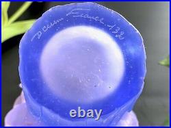 Daum Pate De Verre French Crystal Amaryllis Vase New in Box