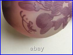 Emile Galle Glass Vase Cameo Solifleur C. 1905 art nouveau antique