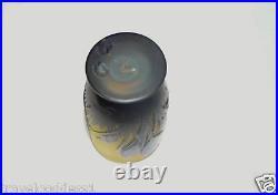 Emile Galle Rare Blue Crocus Cameo Vase