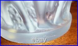 Excellent Condition! Lalique Bacchantes Clear Nudes Sculpture Vase Signed 9 5/8