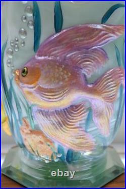 FENTON VASE Atlantis SEA MIST SLAG Sparkling Tropics HP 5150 OOAK FREEusaSHIP
