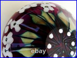 FINE Signed John Lotton Iridescent Multi Flora Studio Art Glass Vase