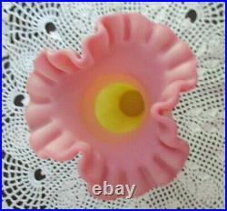 Fenton Art Glass Burmese Ooak / Sample Vase 1996 K. Plauche End Of Day Vase