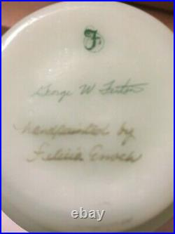 Fenton H. P. Lotus Mist Burmese Butterfly Vase #c 20146-signed By George W Fenton
