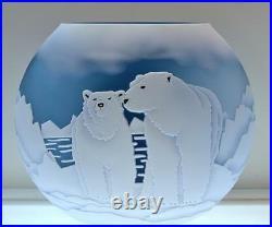 Fenton KELSEY MURPHY Sand Carved Polar Bear KOOL 8801HG LE #d 5/150 FREEusaSHIP