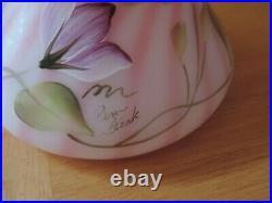 Fenton New Century Collection Rosalene Jack In The Pulpit Tulip Hummingbird Vase
