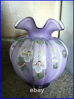 Fenton (h/p)signed By Artist N. Cooper Plum Vase