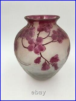 Fine Legras French Art Glass Cameo Vase