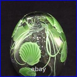 Full Mark Orient & Flume IRIS VASE Signed Ed Alexander RARE American Art Glass
