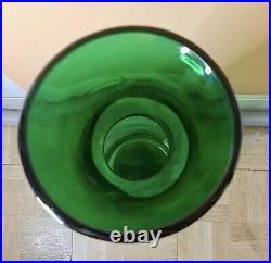 Glass Vase Decorative Stand Large Home Floor Decanter Retro Authentic 33 Blenko