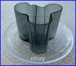 Iittala Alvar Aalto Vase 120mm- 4,72 Inch Finland Dark Grey Discontinued