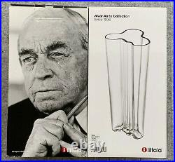 Iittala Alvar Aalto Vase 255mm/10.04 inch NEW Clear Finland Made Discontinued