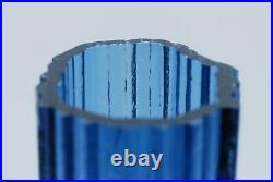 Iittala Tapio Wirkkala. Vase In Petrol Blue And Neosin Color. Signed 3569. Rare