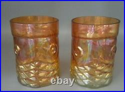John Cook Signed 2008 Studio Art Glass KOI FISH Iridescent Tumblers, Vases, Mult