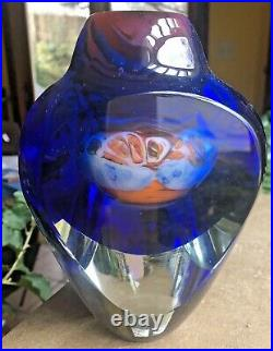 Jon Kuhn Faceted Millifiori Art Glass Vase