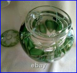 Jones Orient Flume Paperweight Vase Urn With LID Gardenia Lily Magnolia