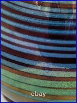 Josh Simpson 1977 Signed Art / Studio Glass Vase Iridescent No Reserve