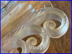 LALIQUE BEAUVAIS Glass Crystal Vase Signed