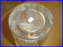 Lalique Bacchantes Ondines Crystal Vase France-NUDE WOMEN MUSES sticker chip
