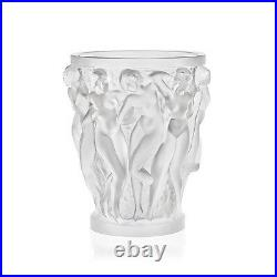Lalique Crystal (Brand New) Bacchantes Vase Small Clear 10547500 Height 14cm