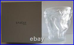Lalique Crystal Large Bacchantes Vase #1220000 Brand Nib Frosted Women Save $$$