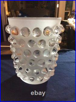 Lalique Crystal Mossi Vase 1220700 Retails for $2800 Signed & Authentic