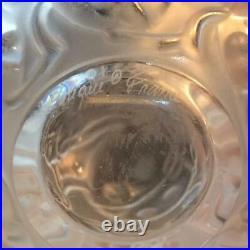 Lalique France Crystal Lady Bug Vase Signed E4254