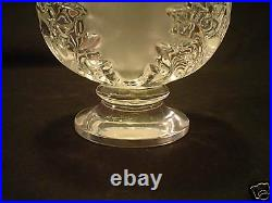 Lalique Frosted & Clear Crystal SAINT-CLOUD Acanthus Leaf Vase, Retired