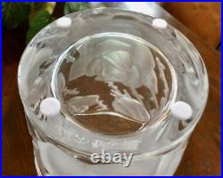 Lalique Ispahan Roses Vase Finest French Crystal 9.5 Tall Signed Mint Gorgeous