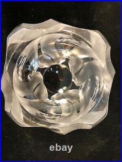 Large 10.5 X 8.5 Lalique Crystal Ingrid Vase Near Mint