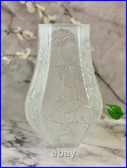 Large 11.4 inch Lalique Ombelles Vase Perfect Mint Condition